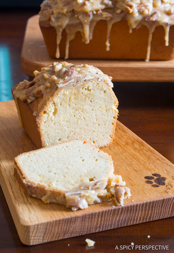 Dazzling Pecan Praline Pound Cake Recipe   ASpicyPerspective.com