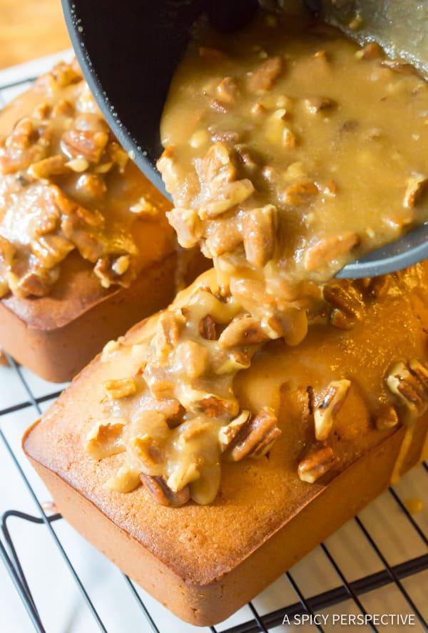 Decadent Pecan Praline Pound Cake Recipe | ASpicyPerspective.com