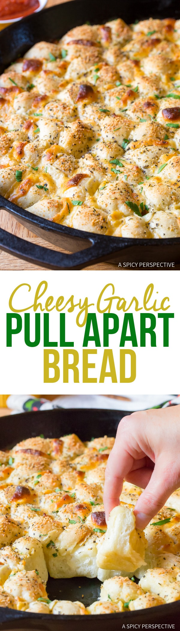6-Ingredient Cheesy Garlic Pull Apart Bread Recipe | A Spicy Perspective