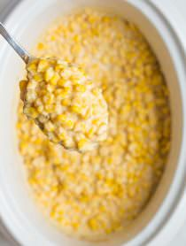 Slow Cooker Creamed Corn Recipe | ASpicyPerspective.com