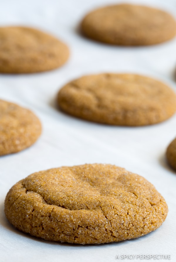 Perfect Soft Chewy Molasses Cookies Recipe | ASpicyPerspective.com #holidays #christmas