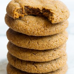 Soft Chewy Molasses Cookies Recipe | ASpicyPerspective.com #holidays #christmas