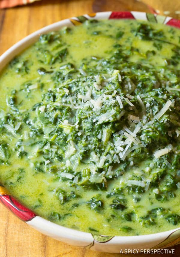 Best Creamed Spinach Recipe | ASpicyPerspective.com