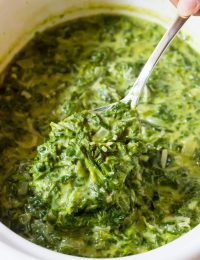 The Best Creamed Spinach Recipe | ASpicyPerspective.com