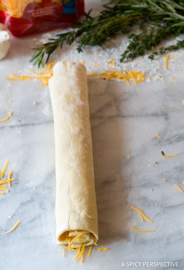 ... Ingredient Cheesy Garlic Herb Palmiers #holidays #appetizer #party