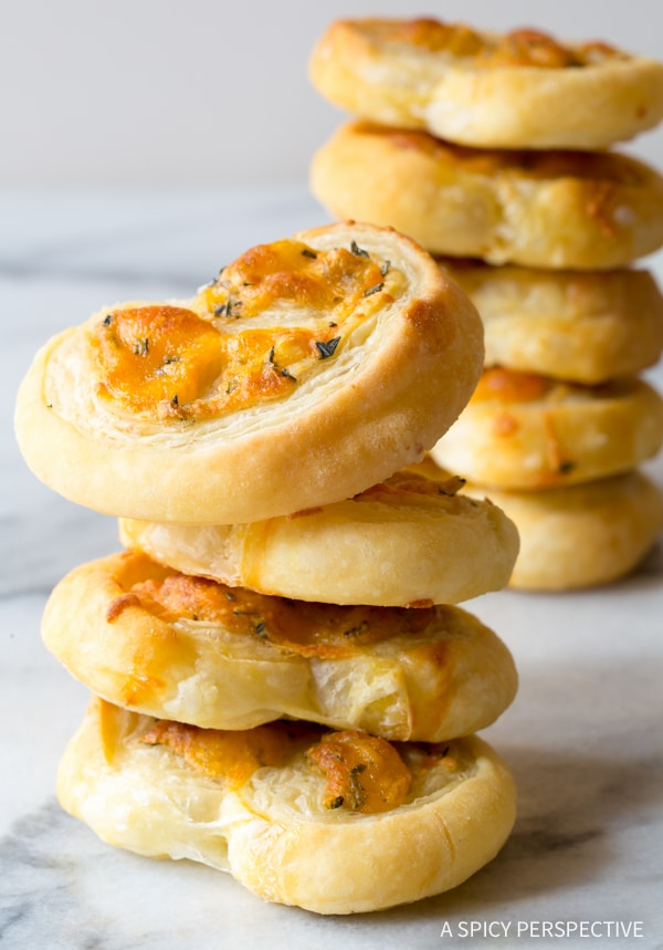 Herb-Cheese Palmiers Recipe — Dishmaps