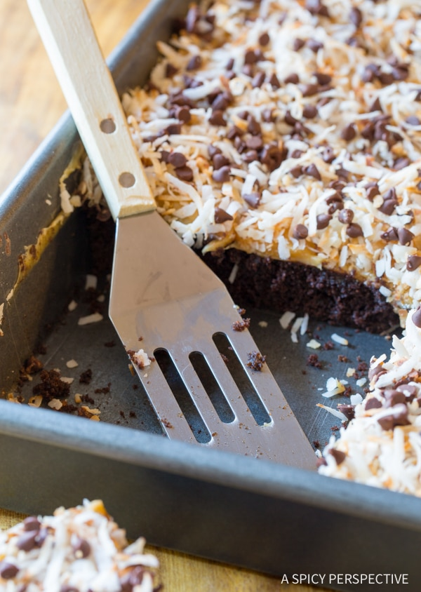 Tender Samoas Texas Sheet Cake Recipe