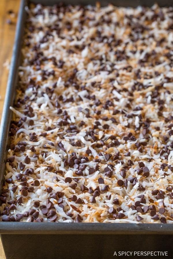 The Best Samoas Texas Sheet Cake Recipe
