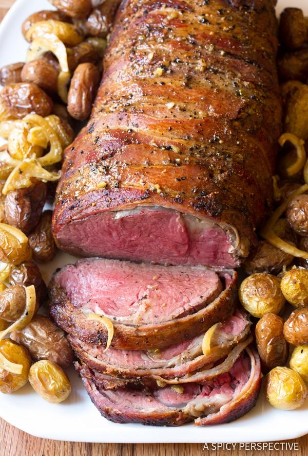 Best Slow Cooker Honey Garlic Beef Tenderloin Recipe | ASpicyPerspective.com #holiday #christmas #crockpot