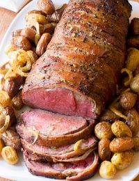 Slow Cooker Honey Garlic Beef Tenderloin Recipe | ASpicyPerspective.com #holiday #christmas #crockpot