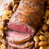 Slow Cooker Honey Garlic Beef Tenderloin Recipe | ASpicyPerspective.com #holiday #christmas #crockpot