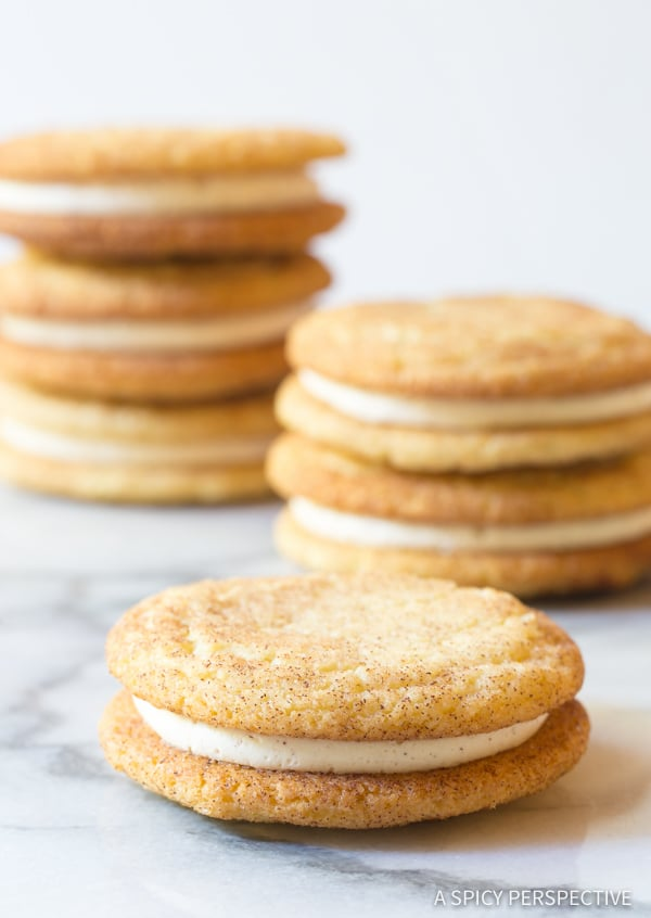 Perfect Snickerdoodle Sandwich Cookies