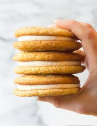 Snickerdoodle Sandwich Cookies | A Spicy Perspective #christmas #holidays