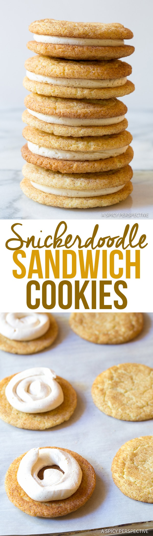 Best Snickerdoodle Sandwich Cookies | A Spicy Perspective #christmas #holidays