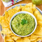 The Best Salsa Verde Recipe #ASpicyPerspective #homemade #salsa #salsaverde #verde #avocado #tomatillo #best #summer #fresh