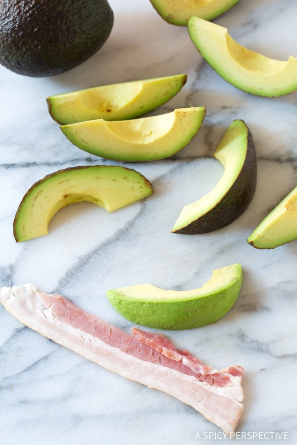 Make - Low Carb Bacon Wrapped Avocado Recipe #paleo #glutenfree