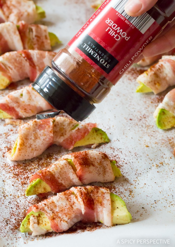 Making Low Carb Bacon Wrapped Avocado Slices!