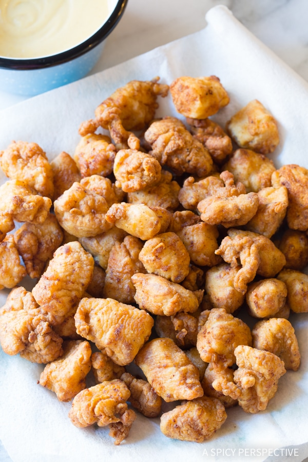 Easy Homemade Chick Fil A Nugget and Sauce Recipe - AWESOME!! Make large batches for parties!