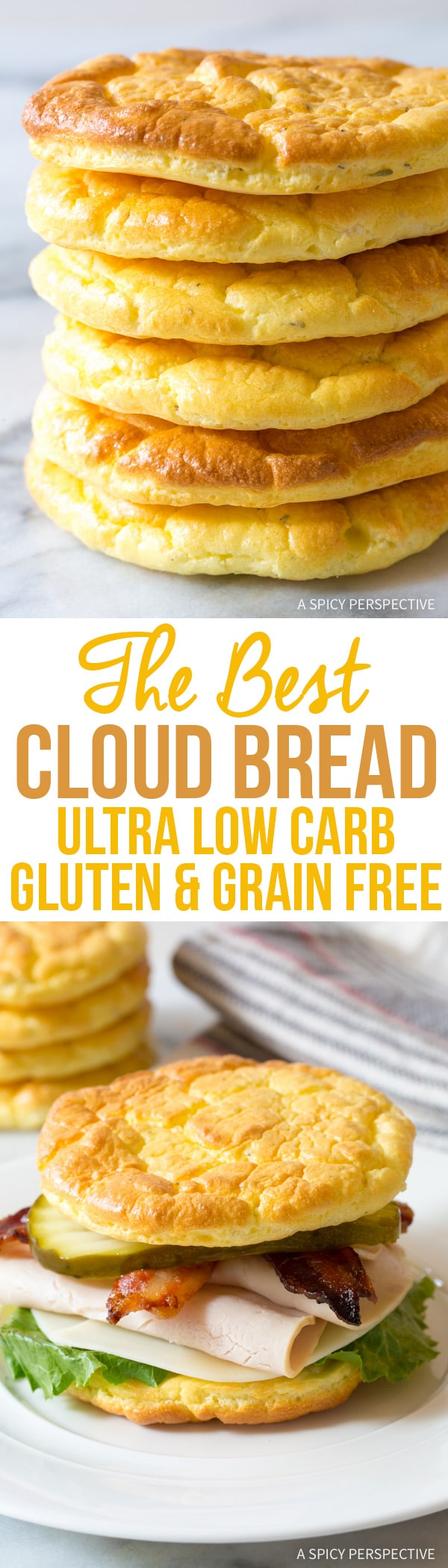 You've got to try this! The Best Cloud Bread Recipe #lowcarb #glutenfree #grainfree