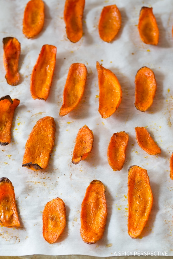 Carrot Recipes #ASpicyPerspective #bakedchips