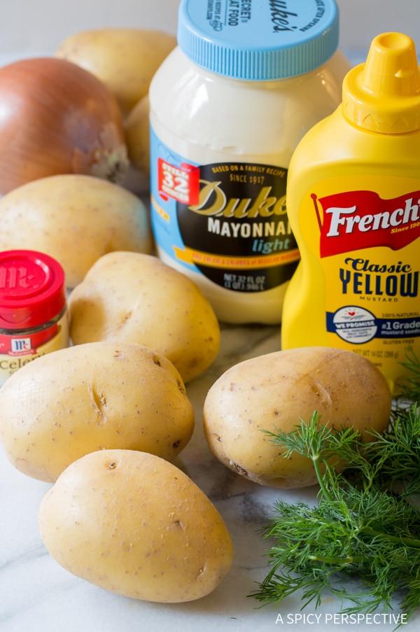 Making The Best Potato Salad Recipe Ever