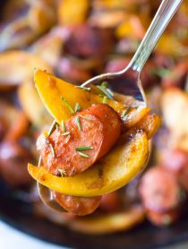 Light Kielbasa Apple Onion Skillet #healthy
