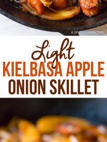 Amazing Light Kielbasa Apple Onion Skillet #healthy