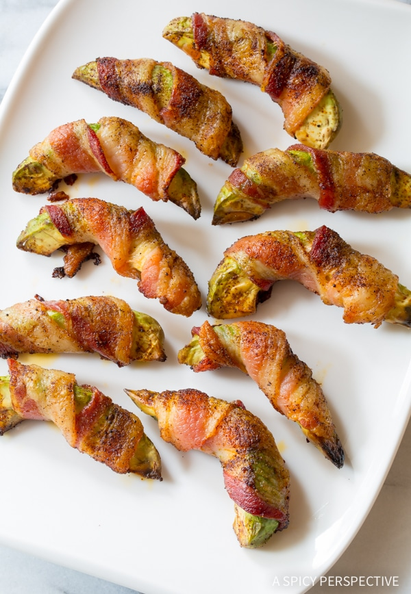 Best Low Carb Bacon Wrapped Avocado Recipe #paleo #glutenfree