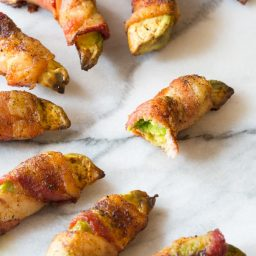 Low Carb Bacon Wrapped Avocado