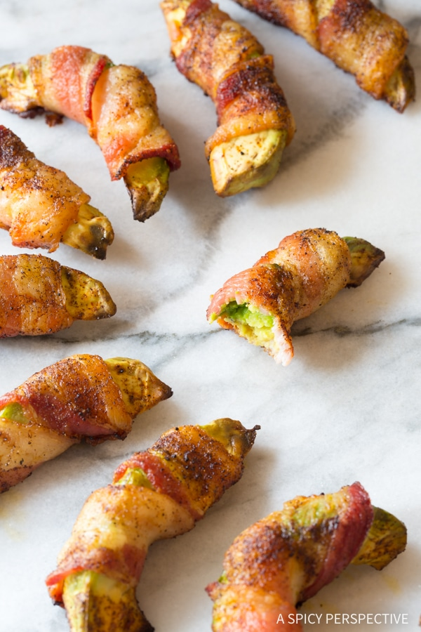 Bacon Wrapped Avocado (Low Carb!)