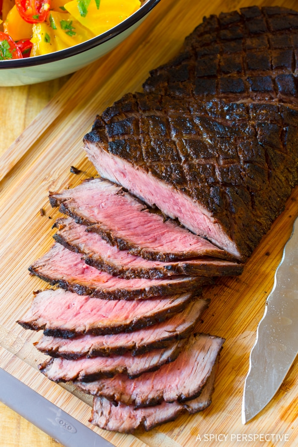 Perfect Low Carb London Broil Recipe with Golden Beet Salad #Healthy #GlutenFree #Paleo
