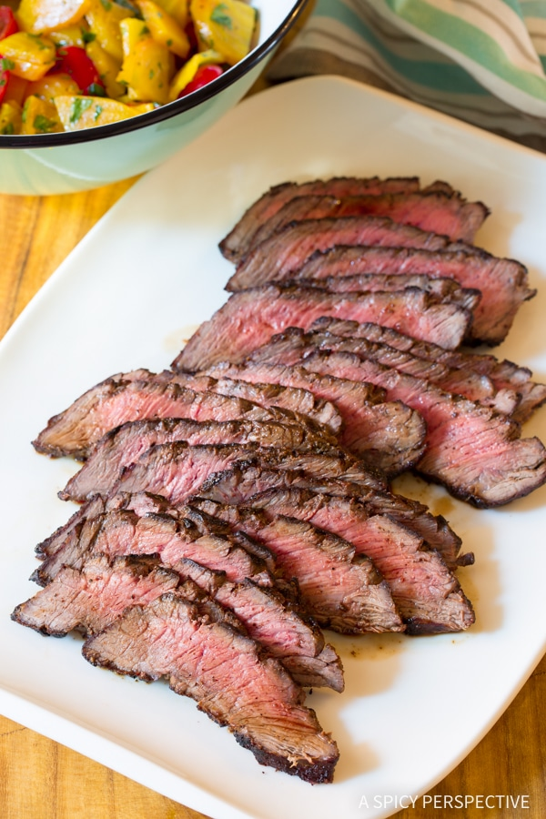 The Perfect Low Carb London Broil Recipe with Golden Beet Salad #Healthy #GlutenFree #Paleo