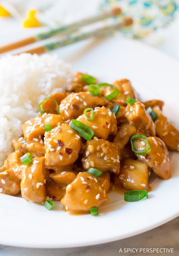 Zesty Low Carb Slow Cooker Orange Chicken #healthy #glutenfree