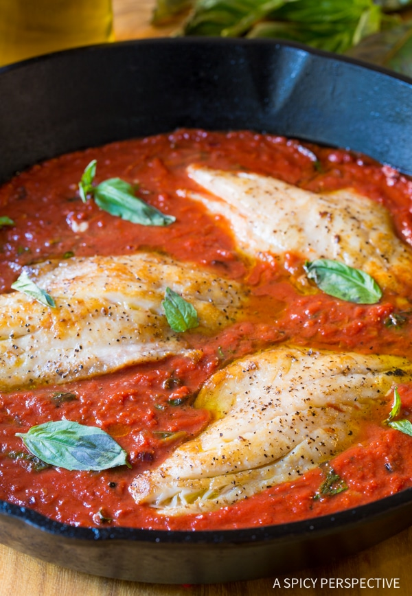 Low Carb White Fish Pomodoro #healthy #paleo
