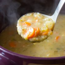 Perky and creamy Polish Dill Pickle Soup (AKA Polish Potato Soup)