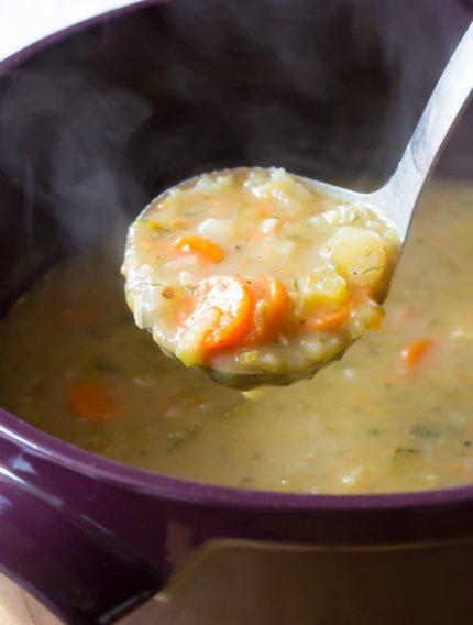 Perky and creamy Polish Dill Pickle Soup (AKA Polish Potato Soup)