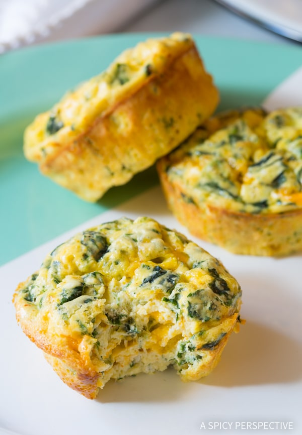 Best Spinach Scramble Egg Muffins Recipe (Low Carb and Gluten Free!)