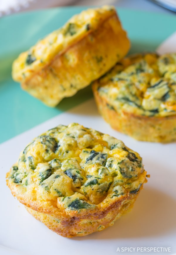 Healthy Spinach Scramble Egg Muffins Recipe (Low Carb and Gluten Free!)
