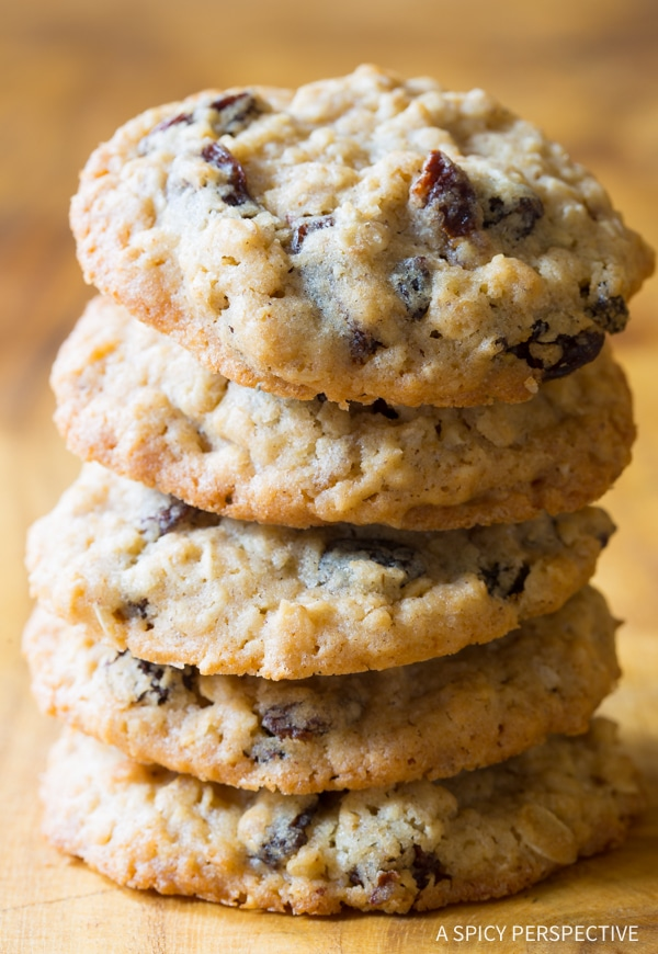 The Best Oatmeal Raisin Cookies Ever!