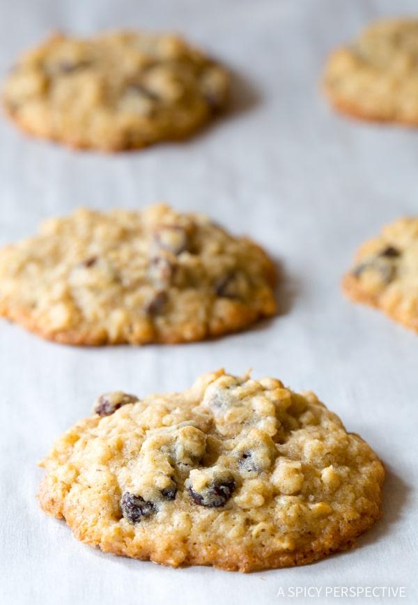 Oatmeal Cookies #ASpicyPerspective #Oatmeal #Raisin #Cookies #OatmealRaisinCookies #OatmealRaisinCookieRecipe #HowtoMakeOatmealRaisinCookies #TheBestOatmealRaisinCookies