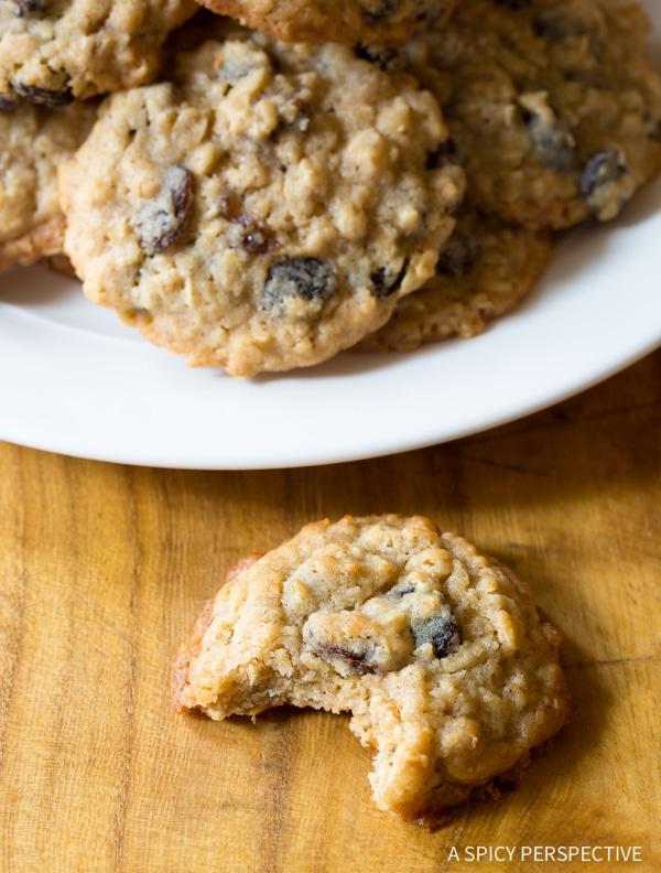 Raisin Cookies #ASpicyPerspective #Oatmeal #Raisin #Cookies #OatmealRaisinCookies #OatmealRaisinCookieRecipe #HowtoMakeOatmealRaisinCookies #TheBestOatmealRaisinCookies