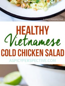 Vibrant Vietnamese Cold Chicken Salad (Goi Ga) #healthy #lowcarb #paleo