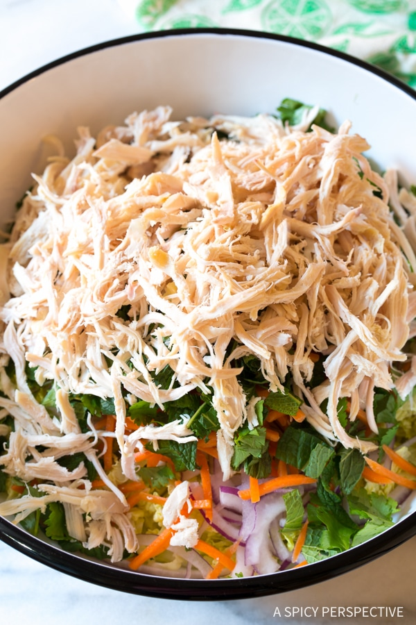 Simple Vietnamese Cold Chicken Salad (Goi Ga) #healthy #lowcarb #paleo