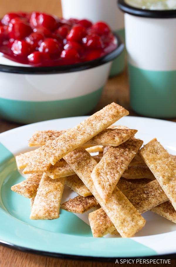 Making Cheesecake Dip with Pie Crust Sticks Recipe