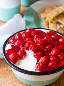 Cherry Cheesecake Dip with Pie Crust Sticks Recipe