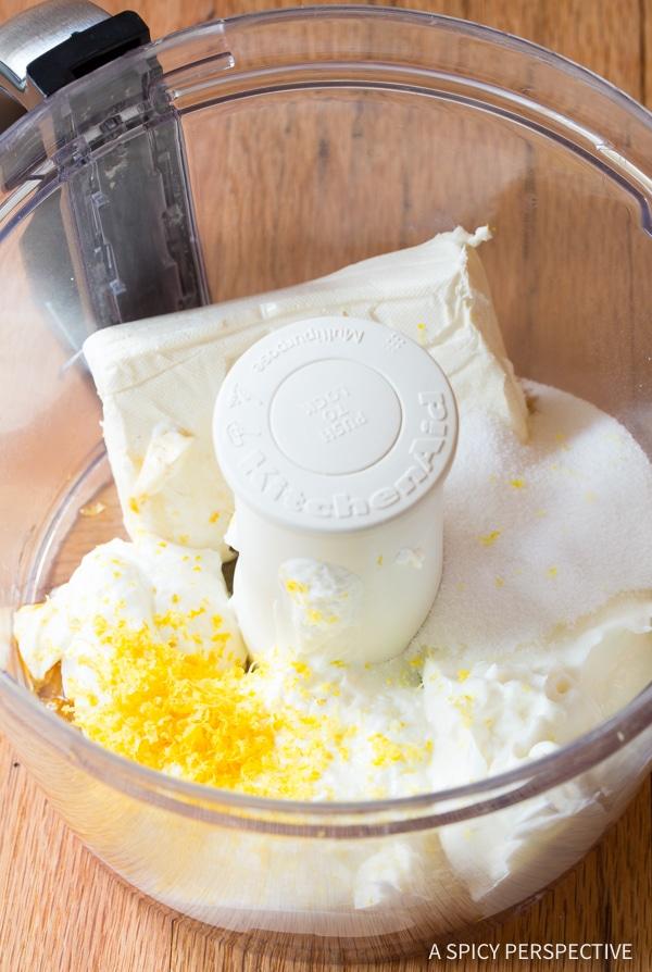 Making 6-Ingredient Cherry Cheesecake Dip with Pie Crust Sticks Recipe