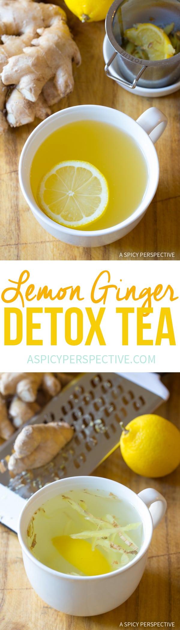 The Best Lemon Ginger Detox Tea Recipe
