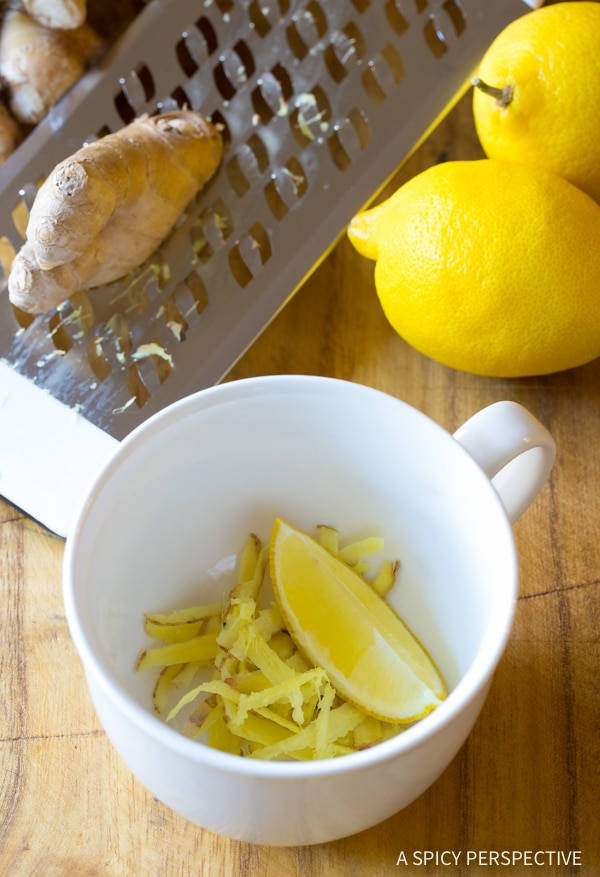 lemon ginger detox tea recipe a spicy perspective. Black Bedroom Furniture Sets. Home Design Ideas