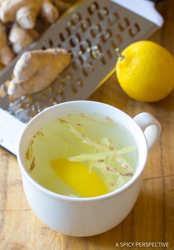 Cleansing Lemon Ginger Detox Tea Recipe
