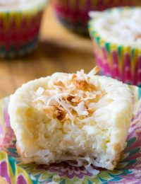 Coconut Cheesecake Muffins with Macaroon Crust Recipe